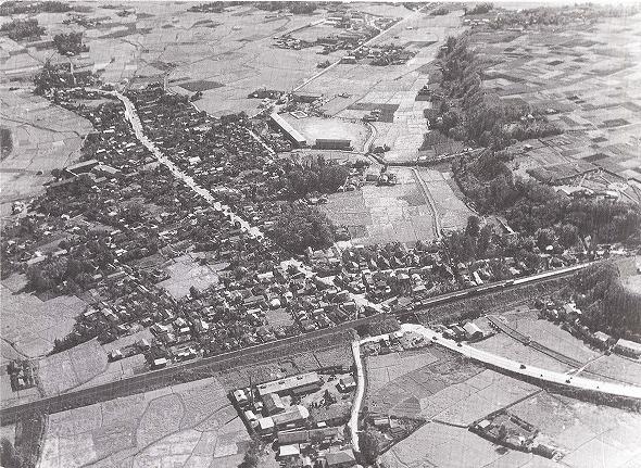 昭和28(1953)年頃の日野宿